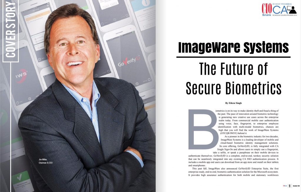 Jim Miller, CEO ImageWare Systems